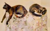 Anita Jamieson's watercolor Frida and Georgia