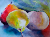 Anita Jamieson's watercolor 3 Pears