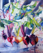 Anita Jamieson's watercolor 5 Beets