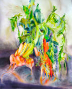 Anita Jamieson's watercolor Carrots and Beets