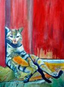 Anita Jamieson's watercolor Chuck