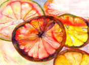 Anita Jamieson's watercolor Citrus
