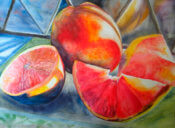 Anita Jamieson's watercolor Grapefruit