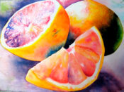 Anita Jamieson's watercolor Grapefruits