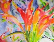 Anita Jamieson's watercolor Lipstick-Plant