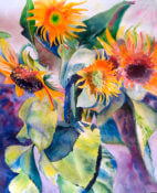Anita Jamieson's watercolor Medium Sunflowers