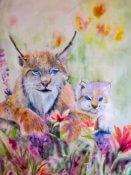 Anita Jamieson's watercolor Mom and Babe