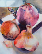 Anita Jamieson's watercolor Onions