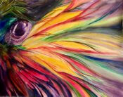 Anita Jamieson's watercolor Parrot Feathers