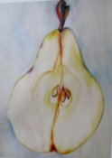 Anita Jamieson's watercolor Pear