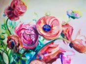 Anita Jamieson's watercolor Ranunculus