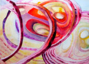 Anita Jamieson's watercolor Red Onion