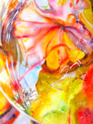 Anita Jamieson's watercolor Refracted Citrus