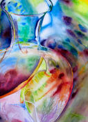 Anita Jamieson's watercolor Refracted Kiwi