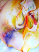 Anita Jamieson's watercolor Refracted Pear