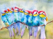 Anita Jamieson's watercolor Birdies of a Feather