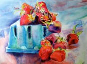Anita Jamieson's watercolor Strawberries