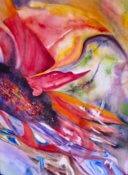 Anita Jamieson's watercolor Sunflower Wings