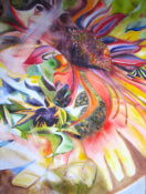 Anita Jamieson's watercolor Swirl Sunflower